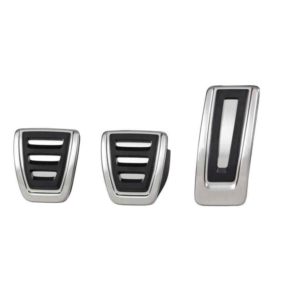 LIUYE MT Anti-Slip Clutch Gas Brake Pedals Cover Fits:Audi A4 A5 A6 A7 S4 S5 S6 Q5 Manual Transmission