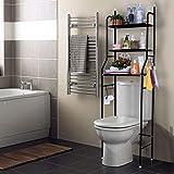 DIDIDD Shelf-Hwf Bathroom Shelves Toilet Shelf Bathroom Washing Machine Shelves Three Layers Storage Rack,Black