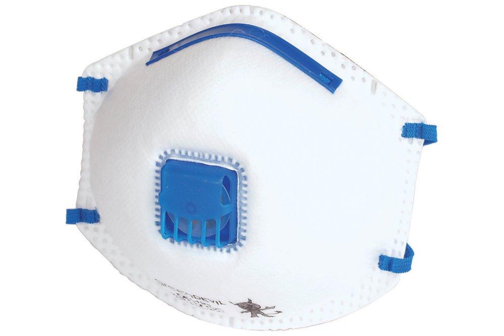 Wolfcraft 4840000 4840000-3 má scaras Antipolvo FFP2 V, con vá lvula de respiració n, Especialmente adecuadas para prevenció n antigripe, DIN EN 149:2001 + A1:2009 (CE), Set de 3 Piezas con válvula de respiración