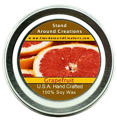 Summer Air Fruit Freshener (Premium 100% All Natural Soy Wax Aromatherapy Candle - 2oz Tin -Grapefruit: A true-to-life blend of ripe, tangy grapefruit an exotic fruit that is citrusy and sweet.)