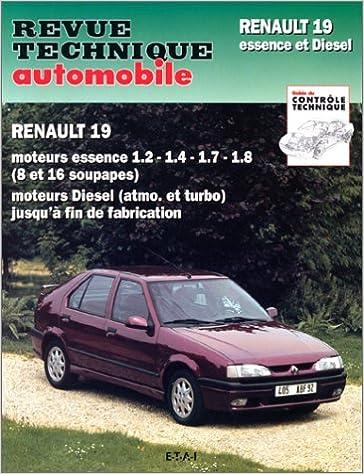 Rta 700.3 Renault 19 essence et diesel: Amazon.es: COLLECTIF: Libros en idiomas extranjeros