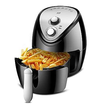 Freidora de Aire, Horno de Alimentos para cocinas saludables con Cesta Desmontable no pegajosa, Tiempo/Temperatura Ajustables para un Aceite Saludable sin ...