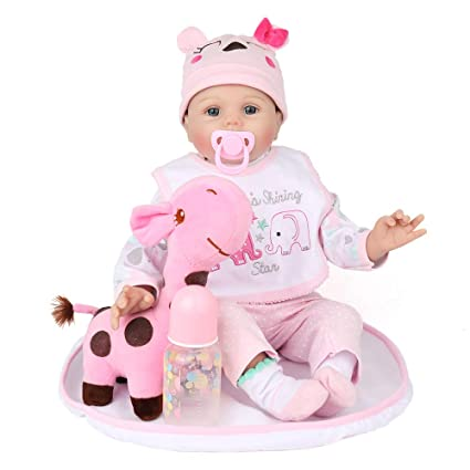 Amazon.com: Kaydora Reborn Baby Doll Girl, 22 inch Soft ...