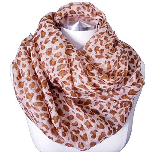 Leopard Scarf Leopard Print Scarf Animal Print Scarf animal print scarves (1b Leopard PInk) ()