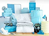 Doin' It Big- Twin XL College Dorm Room Bedding (Henna Light Blue)