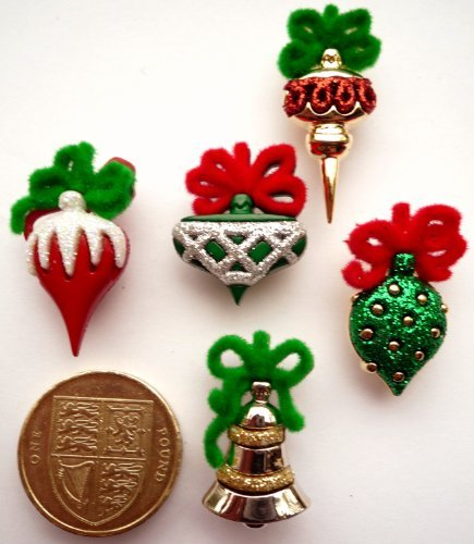 Price comparison product image Dress It Up Christmas Ornaments - Novelty Craft Embellishments & Buttons