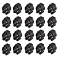 20 Pcs Fishing Pole Rod Holder Clips Rubber Black by Mayitr