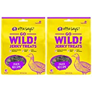 ETTA SAYS! Go Wild Jerky Treats for Dogs – Pack of 2 – Made in The USA, Single Source Protein, Grain-Free, Glycerin-Free (Duck)