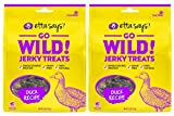 ETTA SAYS! Go Wild Jerky Treats for Dogs - Pack of 2 - Made in The USA, Single Source Protein, Grain-Free, Glycerin-Free (Duck): more info