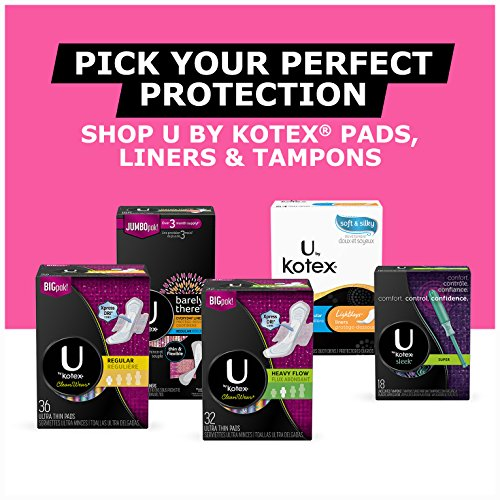 U by Kotex Barely There Long Liners, 90 Count, Pack of 5 (450 Count Total) by U by Kotex (Image #6)