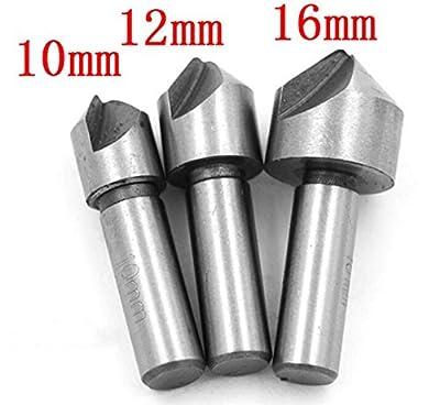 3PCS 10/12/16mm HSS Countersink Drill Bits Set For Wood Metal Change Drill Bit