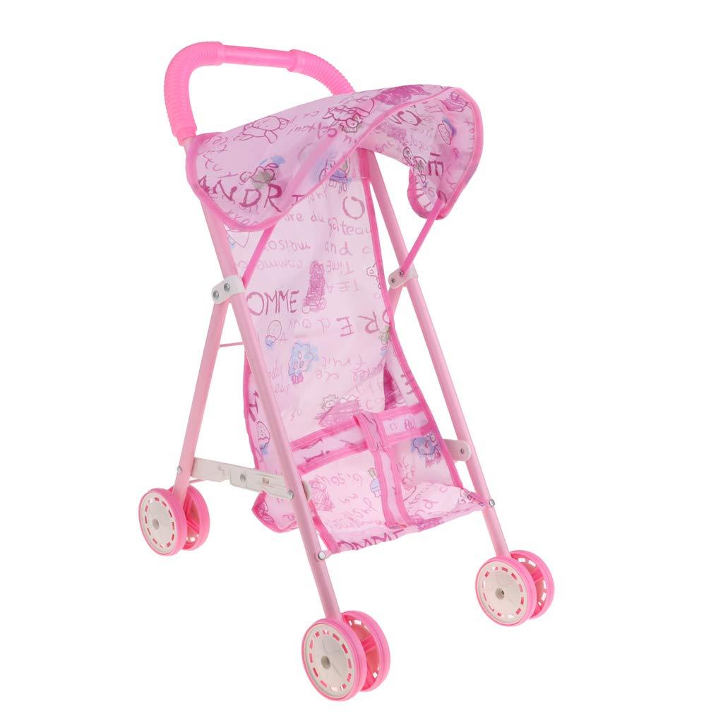 Amazon.com: Fityle Newborn Baby Doll Stroller Foldable Baby ...