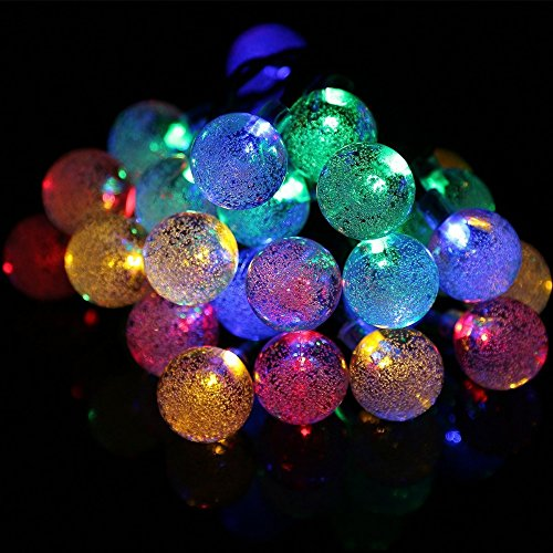 colorful, 0-5W : Crystal Ball Solar led Lamps Crystal Ball Lights Outdoor Garden Party led IY601024 ()