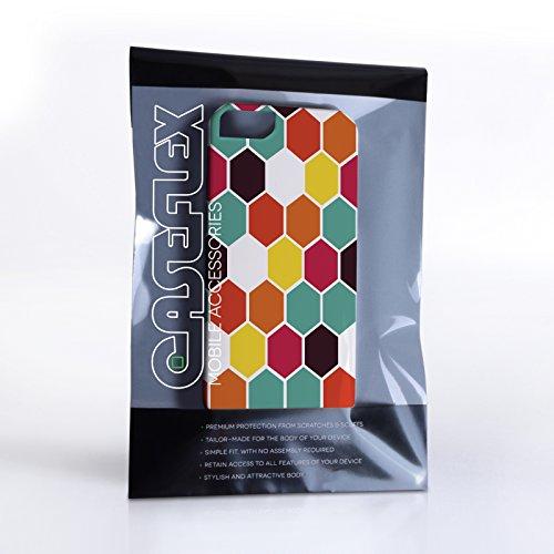 Caseflex iPhone 5 / 5S Hülle Hexagon Muster Hart Schutzhülle