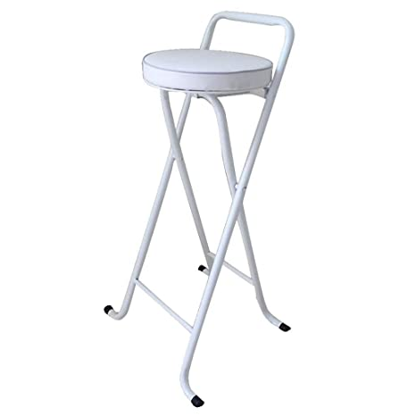 Prime Jjjjd Padded Round Folding Stool White Folding High Chair Unemploymentrelief Wooden Chair Designs For Living Room Unemploymentrelieforg