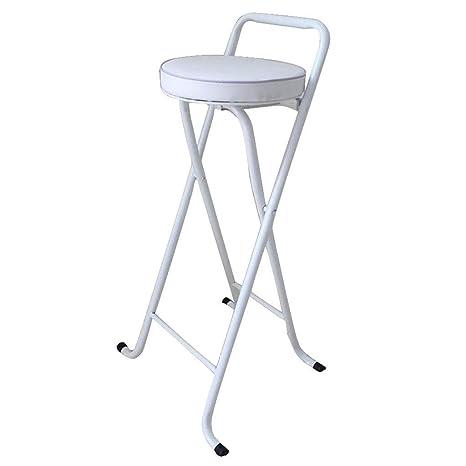 Strange Jjjjd Padded Round Folding Stool White Folding High Chair Customarchery Wood Chair Design Ideas Customarcherynet