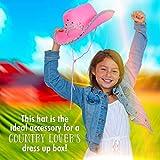 Skeleteen Pink Cowboy Hat - Pink Sequin Cowgirl