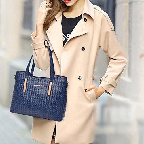 Mujer El Nuevo Tres Piezas Bolsas De Hombro Moda Bolso De Gran Capacidad Práctico Temperamento Bolsa Gold