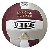 Tachikara Sensi-Tec Composite High Performance Volleyball, Cardinal/White/Silver Gray
