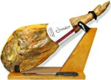 #8: Serrano Ham Bone in from Spain 14.7 - 17 lb + Ham Stand + Knife | Cured Spanish Jamon Made with Mediterranean Sea Salt