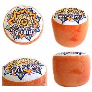 Cojin Puff Mandala Crudo 35cm: Amazon.es: Juguetes y juegos