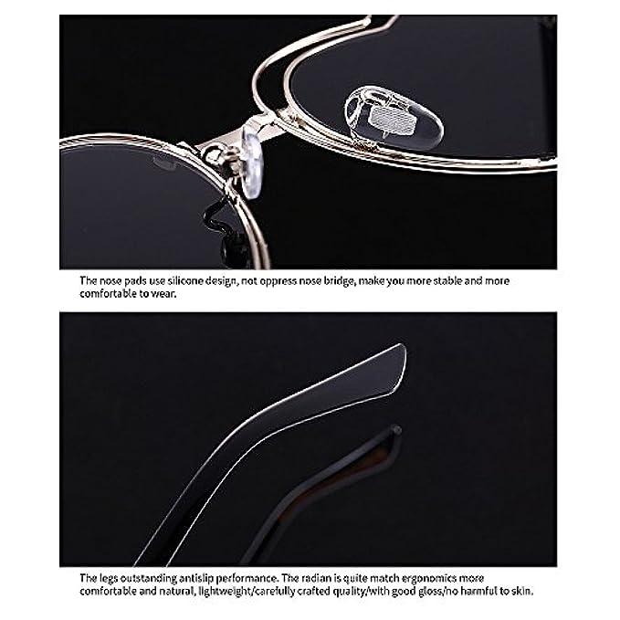 Bicchieri Di Cuore Y-weifeng Protezione Sole Vacanza Metallo Da Uv A Full Spiaggia Occhiali La Per Frame In Donna Forma