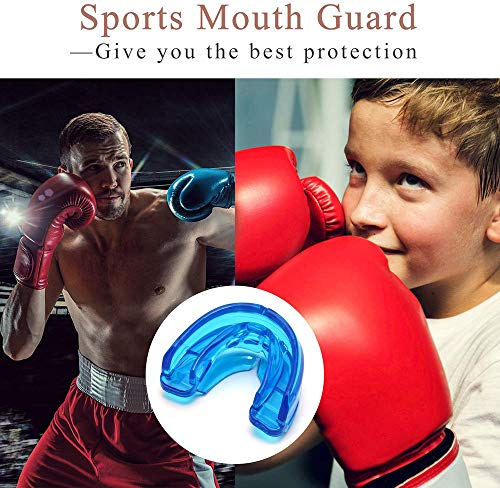 GuardTians Mouth Guard,Double Braces Mouthguard,Football Mouth Guard Sports,No Boiling Required,Premium Quality Teeth Protection - Adult/Youth