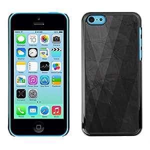 FECELL CITY // Duro Aluminio Pegatina PC Caso decorativo Funda Carcasa de Protección para Apple Iphone 5C // Grey Gray Paper Minimalist Pattern
