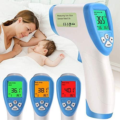 Detector de Temperatura Corporal medidor de Temperatura de Frente Fnsky Term/ómetro infrarrojo Color Aleatorio para ni/ños Adultos term/ómetro Digital sin Contacto