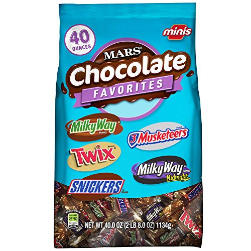 Chocolate Halloween Treats (Mars Chocolate Minis Size Candy Variety Mix 40-Ounce Bag)