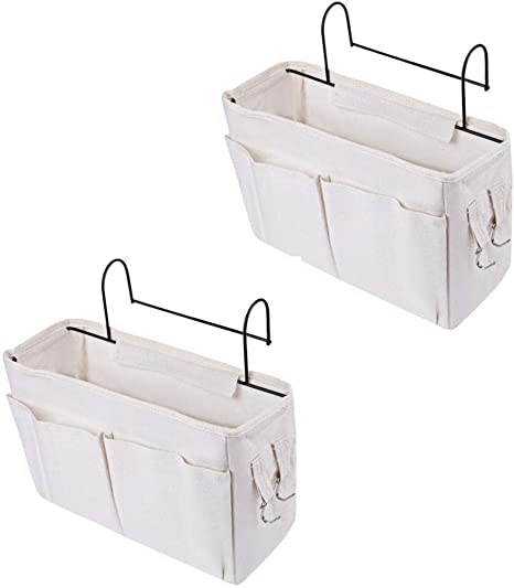 Haoun 2Pack Bedside Storage Caddy Hanging Organizer