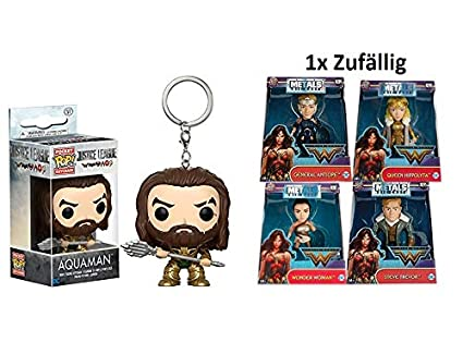 2 unidades de Funko POP. Llavero Justice League - Aquaman + ...