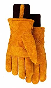 Thermolite Lined Suede Cowhide Leather Work Gloves, 450TL, Size: B/Small