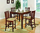 Counter Height Kitchen Table Sets Coaster Normandie 5 Piece Counter Height Table Set