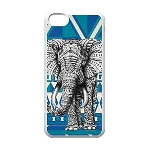 Elephant Aztec ForiPhone 5C Ceel Phone Case Firm FWOP6374517