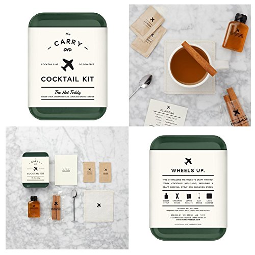 The Carry On Cocktail Kit Old Fashioned, Moscow Mule, Gin and Tonic, Bloody Mary, Hot Toddy, Champagne Cocktail - 6 Pack Carry On Cocktail Kit Holiday Set, Six Carry On Cocktail Kits Makes 12 Drinks by Sawdust + Oil (Image #7)