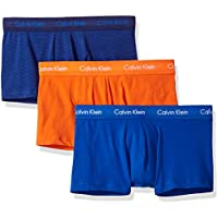 Calvin Klein Men's Underwear Cotton Stretch 3 Pack Low Rise Trunks