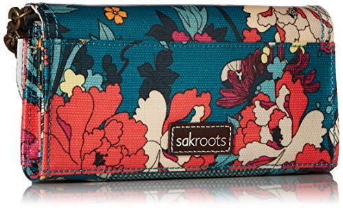 Womens Crossbody Flower Phone Teal Sakroots Power Wallet Thea BqxdU