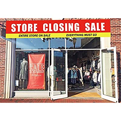 Large Store Closing Sale Banner, Store Close Sale Sign, Huge Shop Grocery Retail Business Advertising Sign(9.8 x 1.6feet): Health & Personal Care
