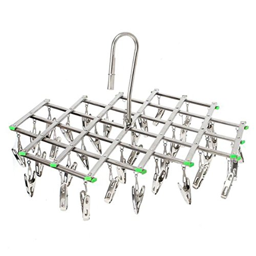 Swivel Hook Stainless Steel 35 Pegs Drying Rack Clothes Hang