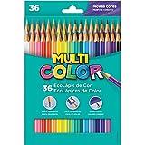 Lapis De Cor Sextavado Multicolor Super Eco 36cores - Pacote com 03 Faber Castell, Multicor