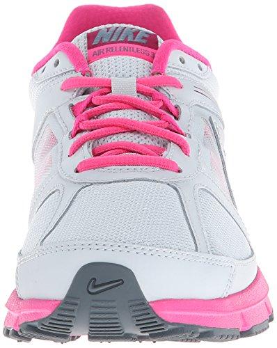 Nike Kvinnor Luft Obevekliga 3 Löparskor Platina / Rosa / Skiffer / Hallon Röd