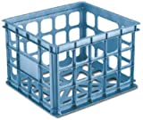 Sterilite Mini File Storage Crate, Blue Aquarium, Pack of 6