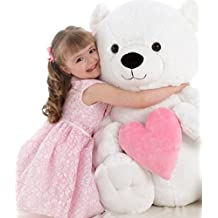 "Lovette Bear with Heart 30"" - Teddy Bear by Ganz (HV9114) by Ganz"