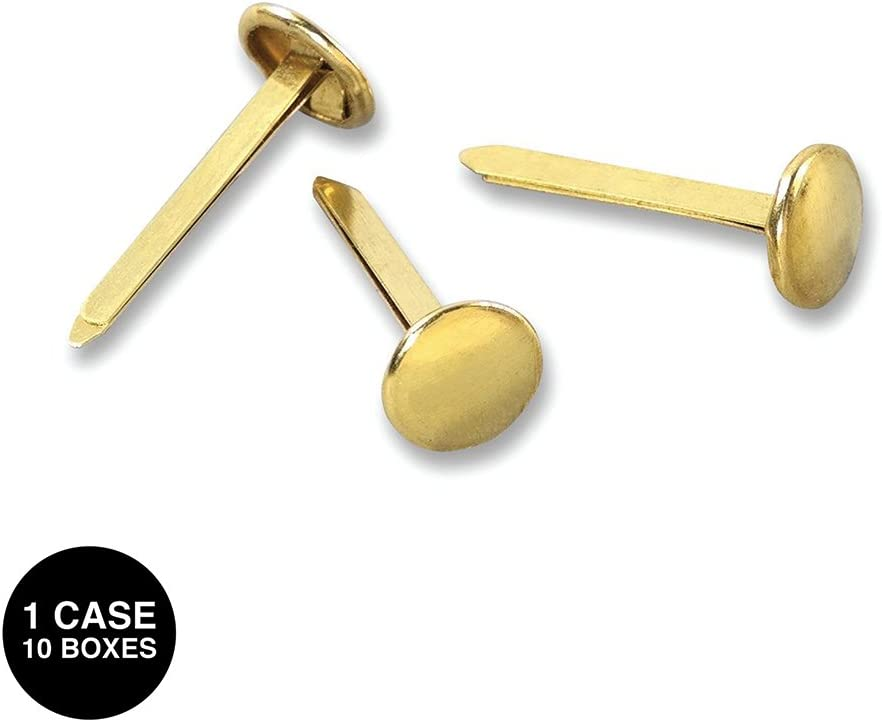 100//Box 3-Inch Length ACCO 71508 Brass Prong Paper File Fasteners