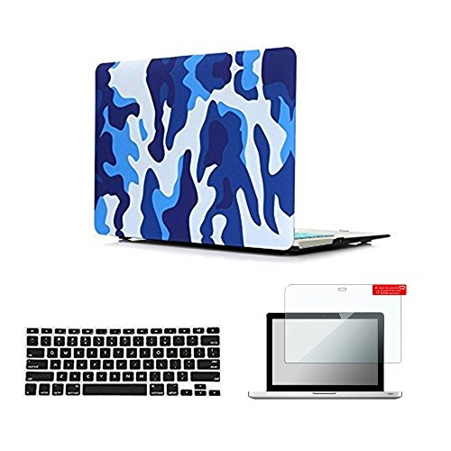Se7enline Old MacBook Pro Retina 13 inch Case 2012-2016 Plastic Hard Carrying Case for MacBook Pro 13-inch Retina Model A1502/A1425 with Keyboard Cover Skin, Screen Protector,Marine - Pro Camo Macbook Retina Case 13