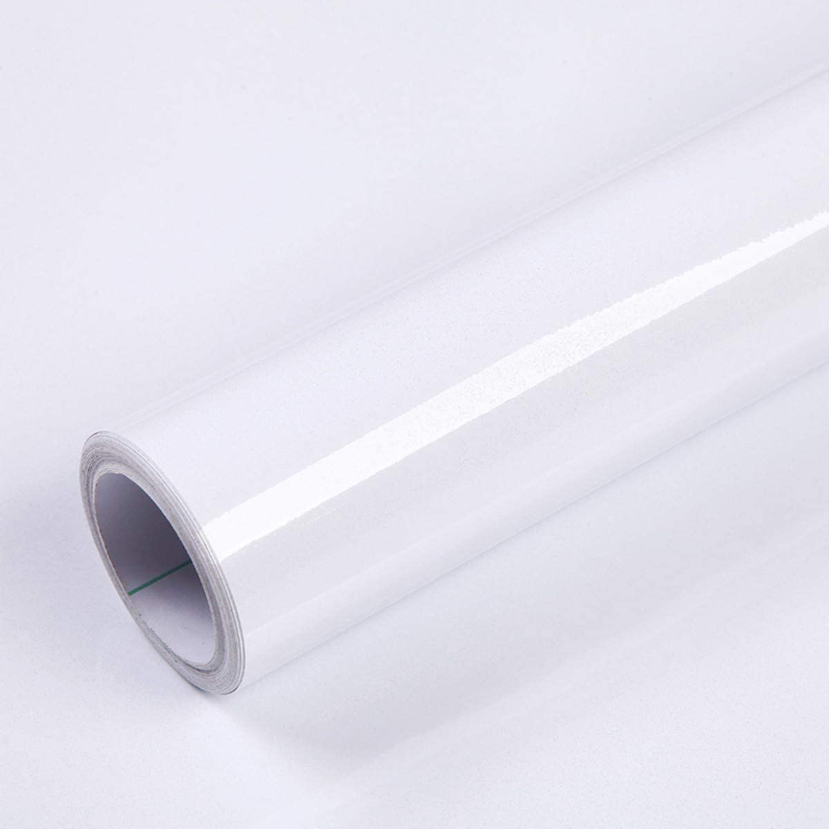 """15.8"""" X 118"""" White Contact Paper Decorative Self Adhesive Film Contact Paper for Countertop Cabinet Vinyl Film Furniture Paper White Wallpaper Waterproof, Thick and Durable"""