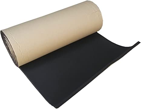 HOUTBY 1Roll 3mm Car Sound Proofing Deadening Insulation Closed Cell Foam Noise Soundproof 50cm X 100cm