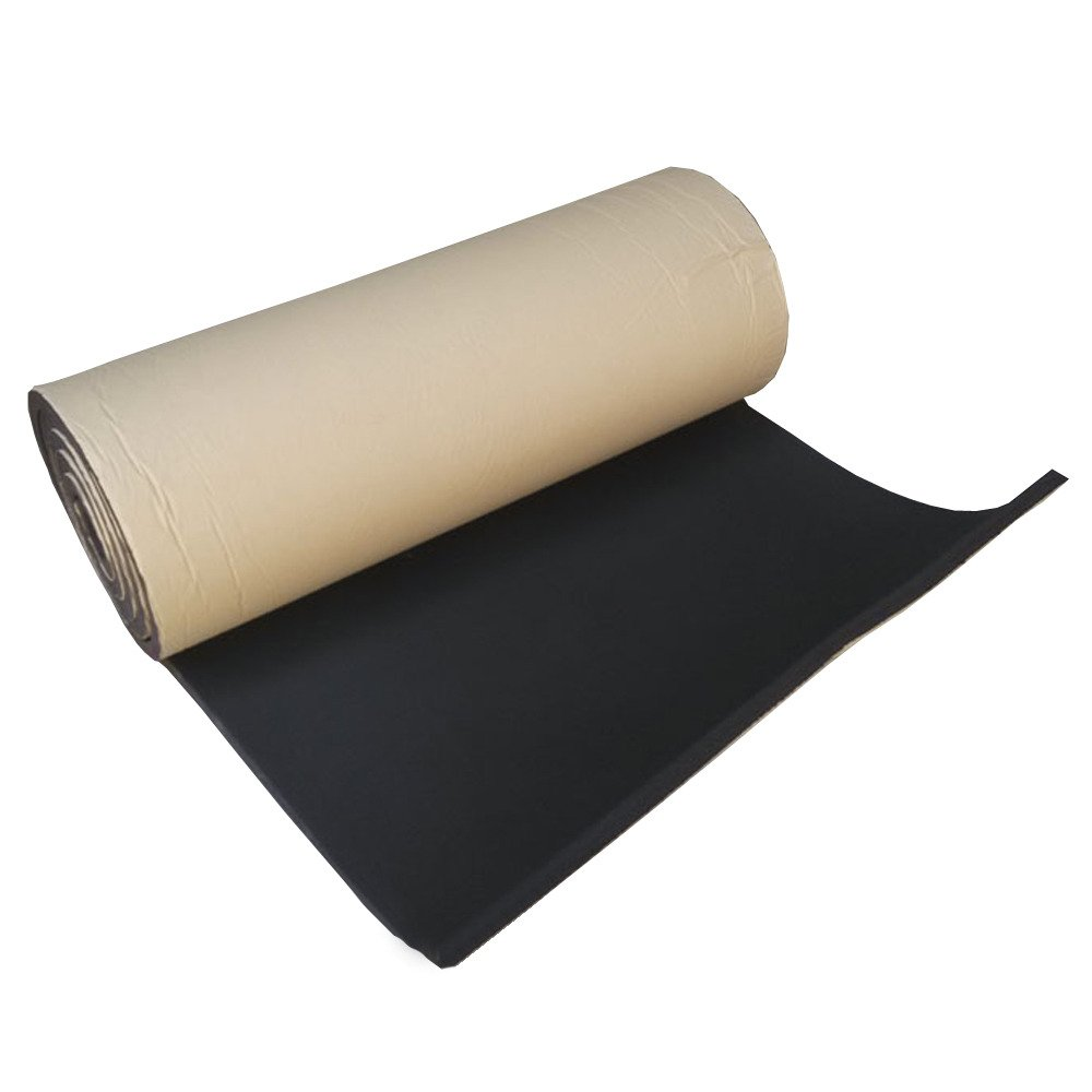 HOUTBY 2Roll 7mm Car Sound Proofing Deadening Insulation Closed Cell Foam Noise Soundproof 50cm X 300cm
