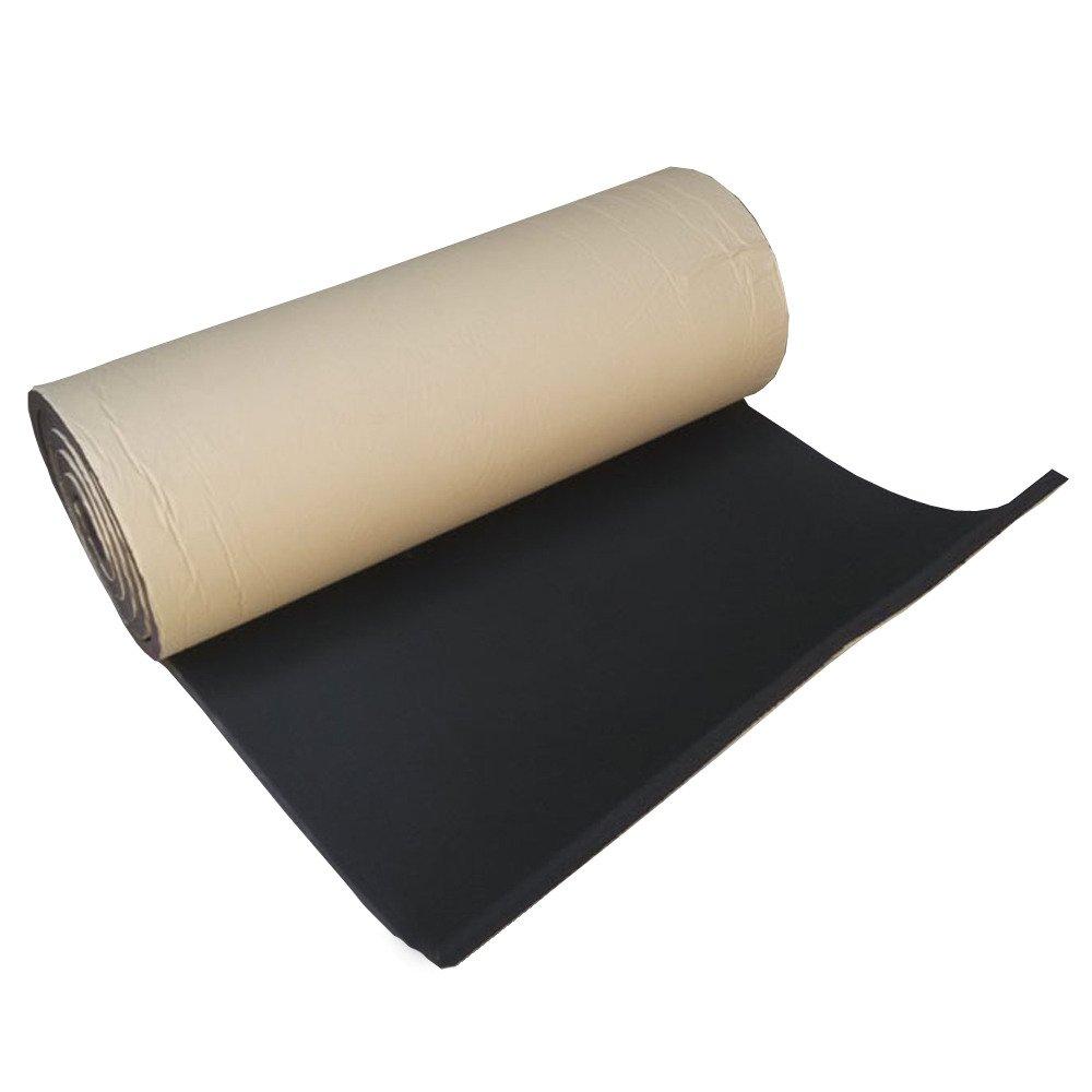 Supmico 1 rotolo auto insonorizzazione isolamento fonoassorbente chiuso Antirombo Antivibrante Foam Adesivo Stuoia 10mm 50cm X 300cm